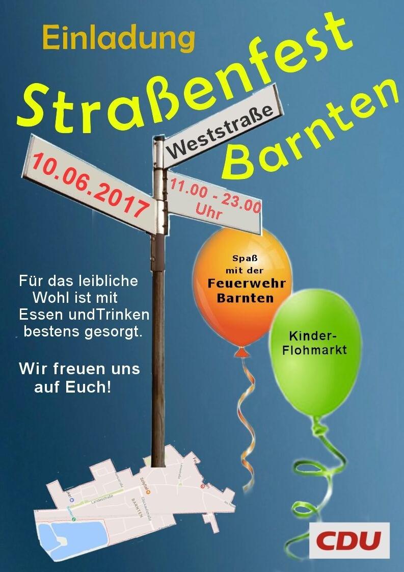 Straßenfest Einladung Vorlage